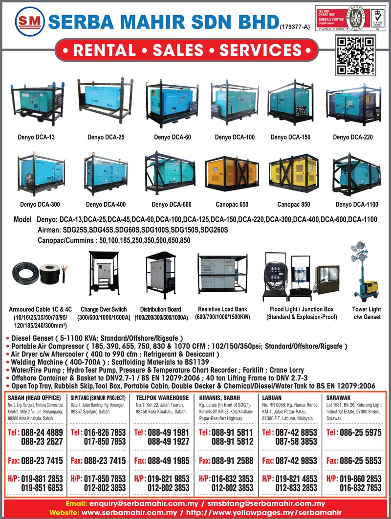 Rental/Sales of Generator for Oil & Gas Industry in Malaysia