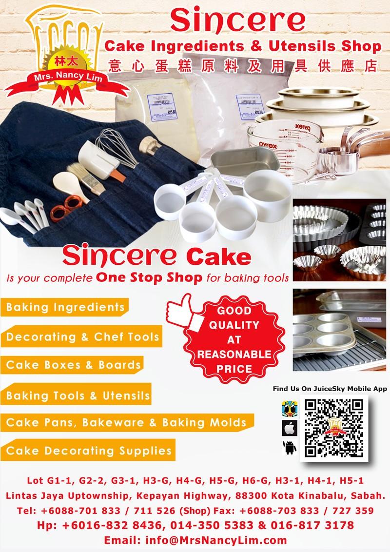 Promotion! Purchase & free cash voucher!! Sincere Cake
